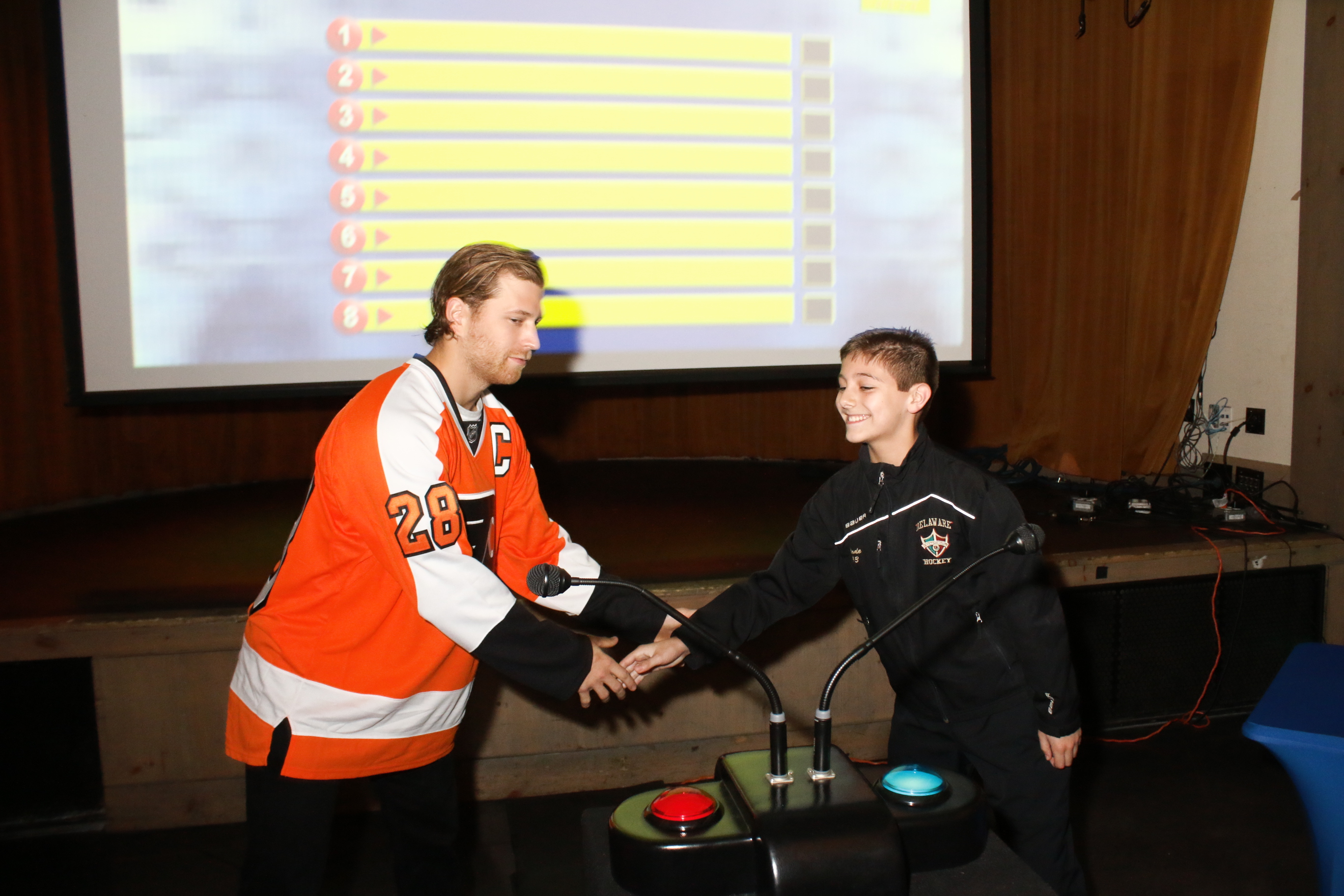 Philly Flyers with their fans